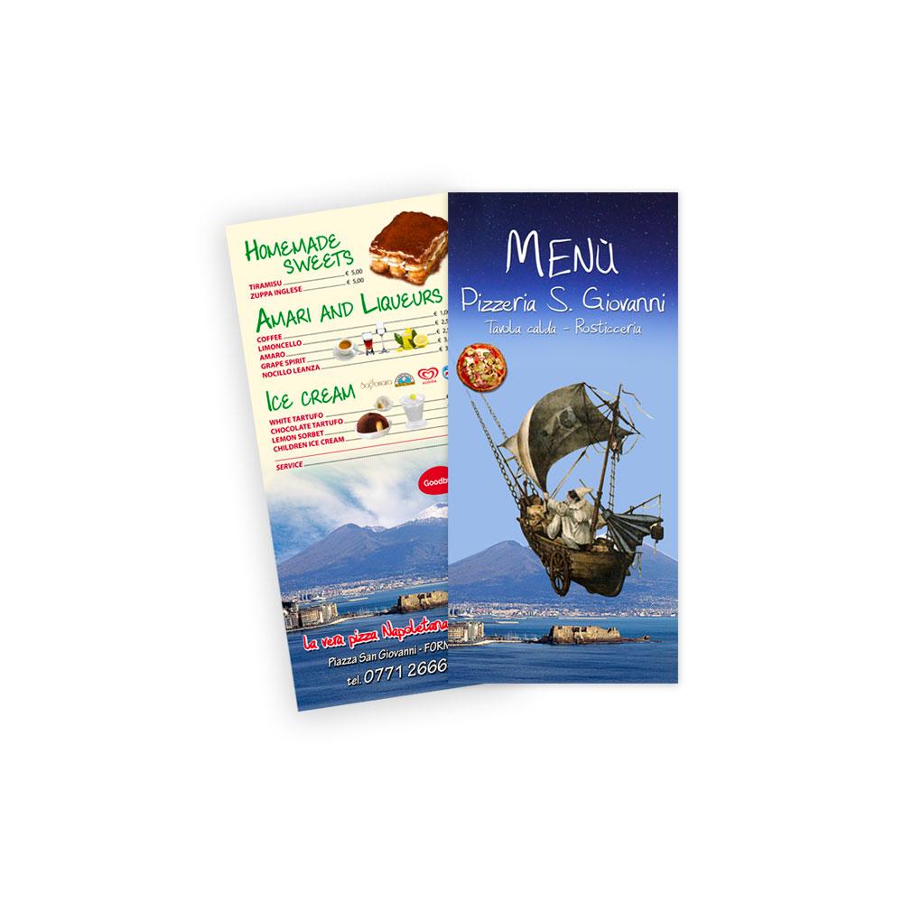 Pizzeria San Giovanni Formia | Menu
