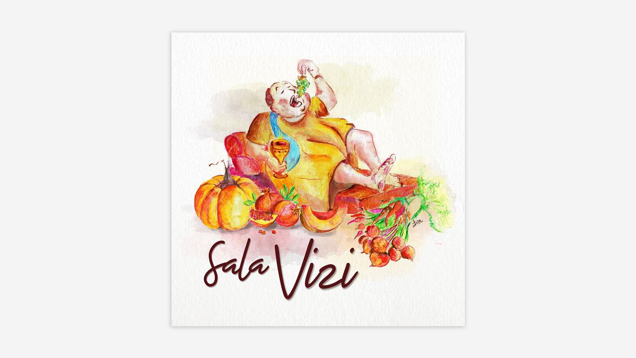 illustrazione sala vizi vizi e virtù ristorante eligrafica formia