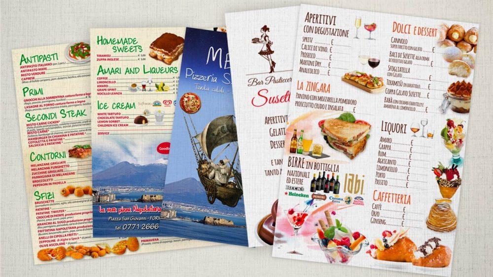 menu che fanno venire appetito eligrafica formia