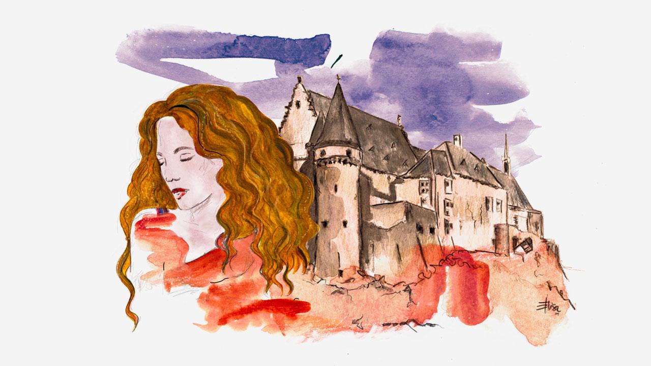 Marie Demoulin illustrazione-copertina libro eligrafica