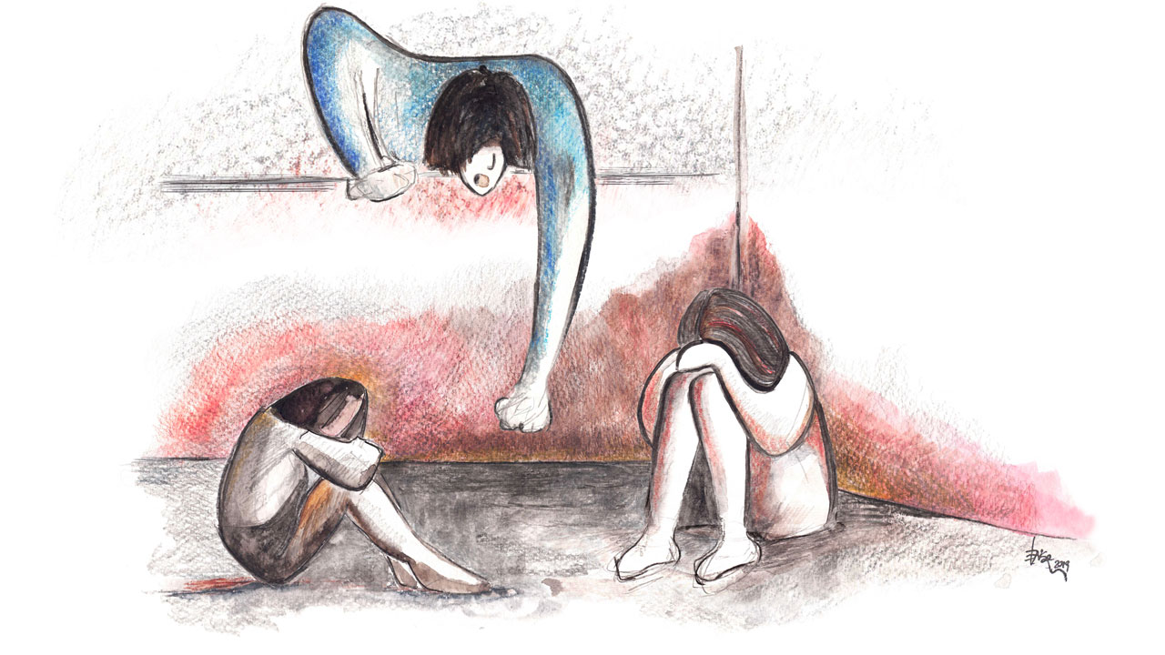 illustrazione copertina sorellastre eligrafica formia