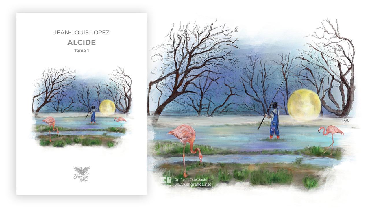 Alcide illustrazione copertina eligrafica elisa formia