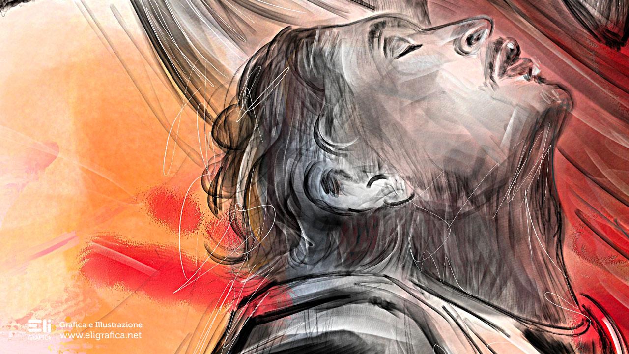 Venamon illustrazione copertina eligrafica formia