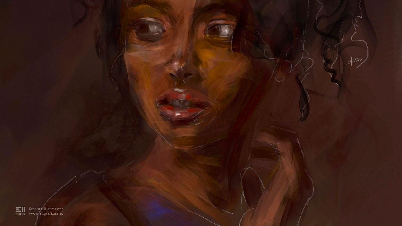 ritratto di donna eligrafica elisa formia