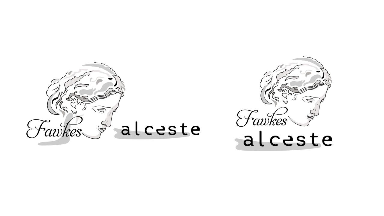 creazione logo collana fawkes alceste eligrafica formia