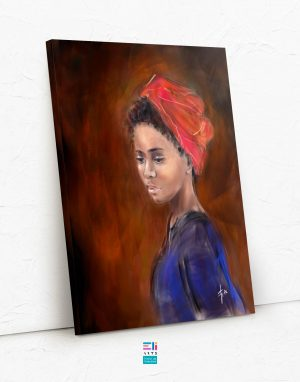 donna con turbante fine art eliarts eligrafica elisa