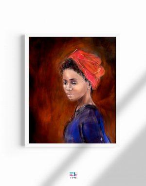 donna con turbante fine art eligrafica formia