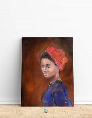 donna con turbante fine art eligrafica variante1