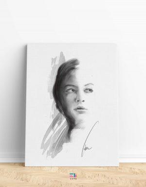 ritratto di donna fine art eligrafica formia variante