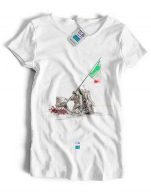 t-shirt italia che resiste eligrafica