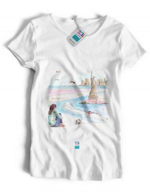 t-shirt marie guimauve eligrafica eliarts