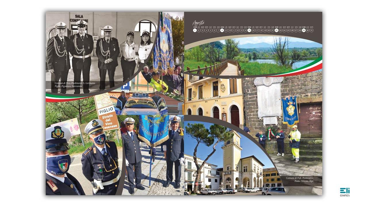 calendario delle polizie locali di frosinone 2021 eligrafica 11