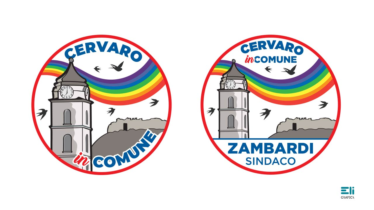 Cervaro in comune logo politico eligrafica