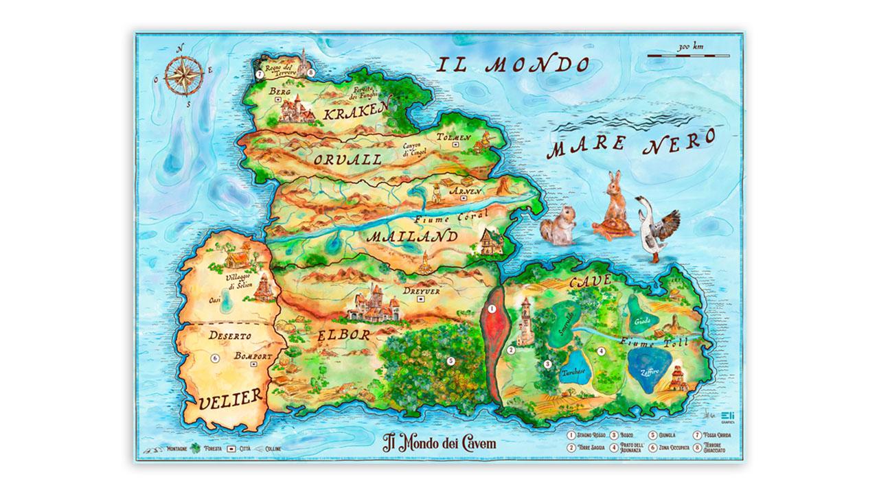 cartina fantasy illustrata eligrafica 1