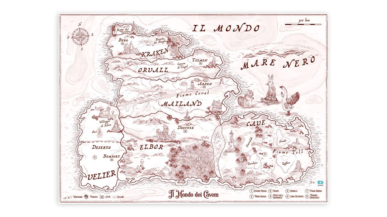 mappa fantasy illustrata eligrafica 2