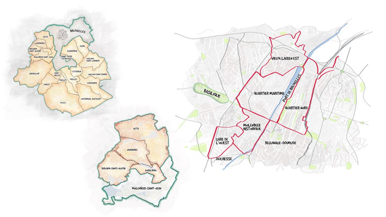 le rat de molenbeek illustration maps eligrafica